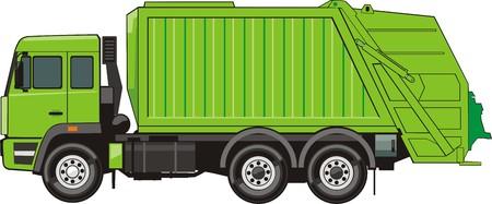 LKW für Montage und Transport Müll Standard-Bild - 31606411