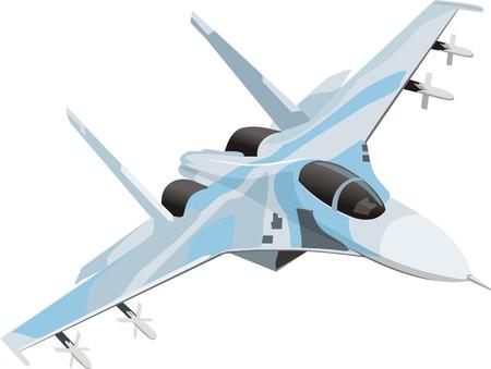militaire bestrijding jet Stock Illustratie