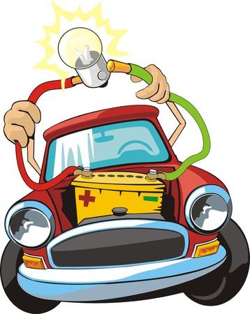 auto elektrische onderdelen te repareren teken Stock Illustratie
