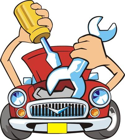 Auto fix sign Stockfoto - 31606422