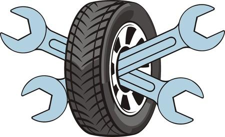 splint: sign of the repair car wheels