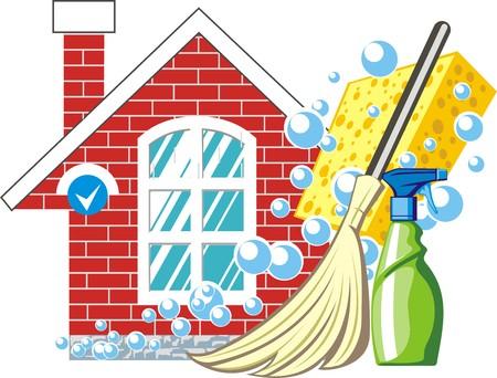 lavar: casa se�al limpia Vectores