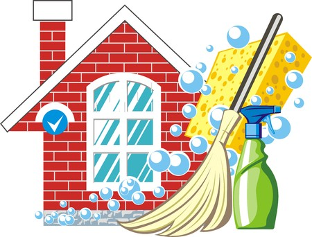 house clean sign royalty free cliparts vectors and stock rh 123rf com house cleaning lady clipart house cleaning services clipart
