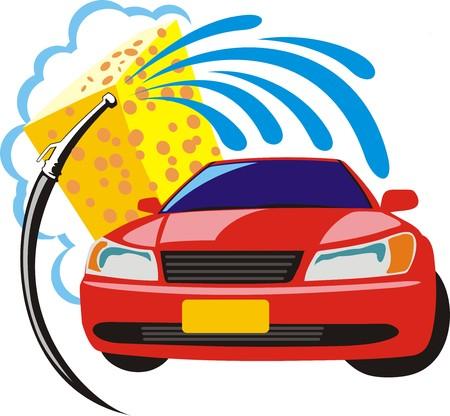 cleaning car: signo de lavado de coches