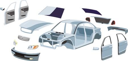 repuestos de carros: acabado coche y fuera de borda externa detalles sobre el mismo