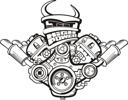 tekenen high power motor van de auto sign