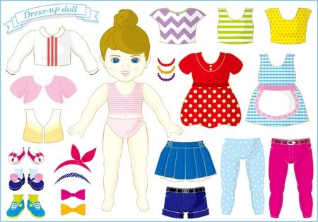 vestidos: vestir a la muñeca