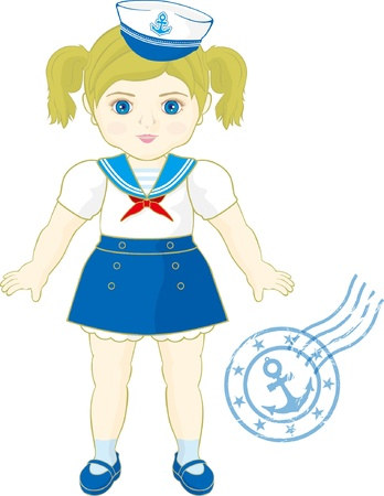 marine doll  Vector