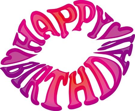 birthday message on the lip - happy birthday