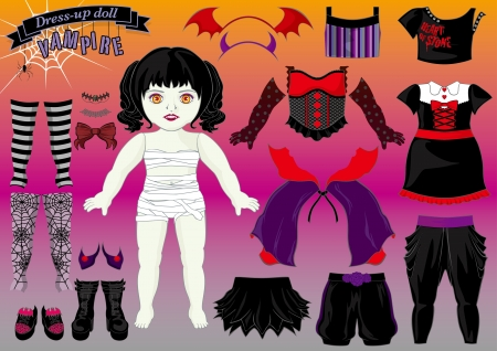 dress up doll-vampire Stock Vector - 21911036