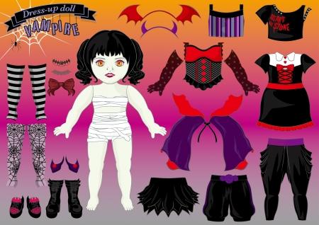 hairband: dress up doll-vampire