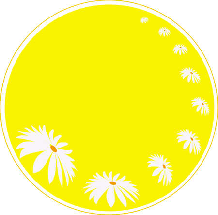 flowers in the yellow circle