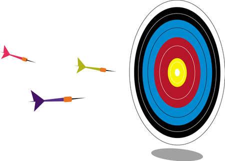 game of darts Иллюстрация