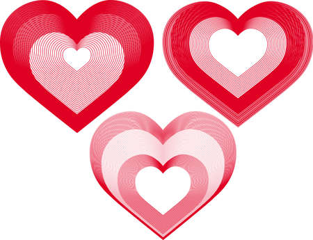 infatuation: vector illustration -hearts