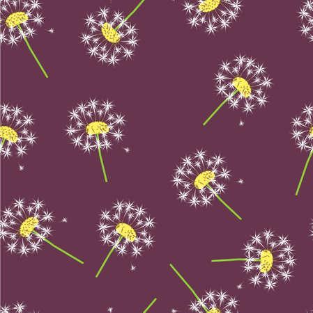 easiness: vector background -dandelion Illustration
