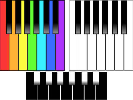 duet: key board buttons in the piano Illustration