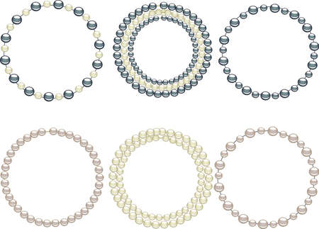 Jewelry pearls circle Stock Vector - 3210358