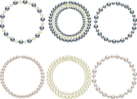 perlas: Joyas de perlas c�rculo