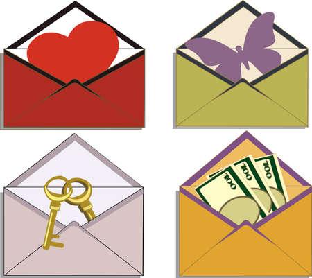 Four different envelope Vector