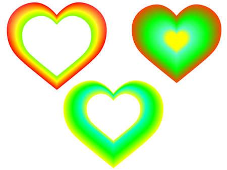 infatuation: set of 3 hearts