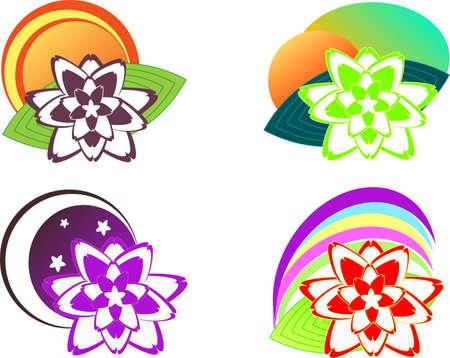 lake flowers: Lotus flower icons