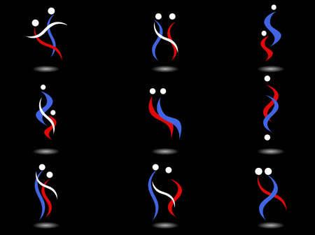 Nine people options logos