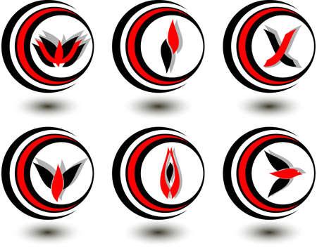 set of logos Stock Vector - 3672166
