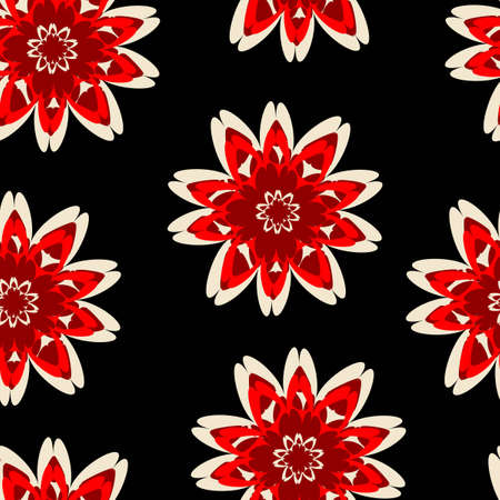 Seamless background from a flowers