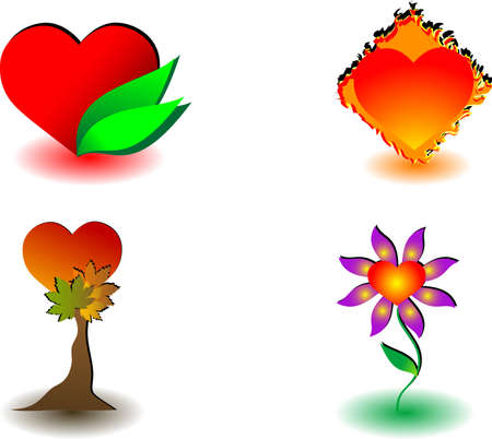 collection of items on the Love of Nature Vector
