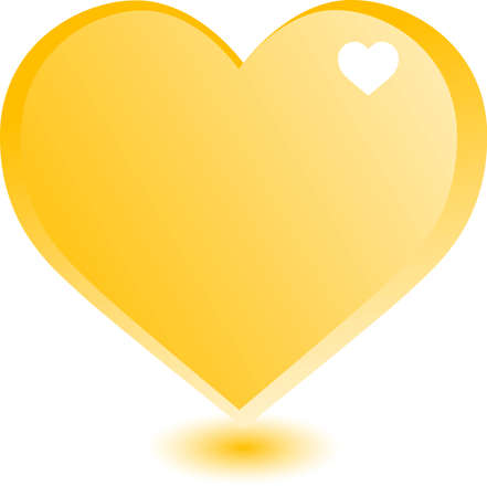 infatuation: one large gold heart on the day of St. Valentine