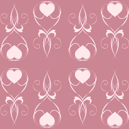 Seamless background from a floral ornament Illustration