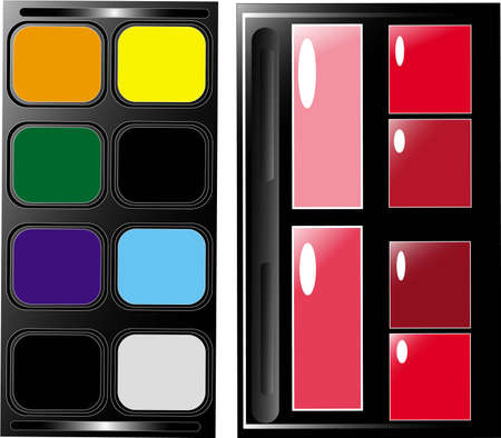 set the palette for professional make-up