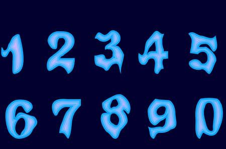 Cijfers / nummers Gotische Stockfoto - 4998425