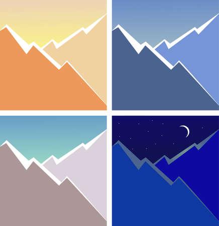 bergsteiger: Berg Illustration