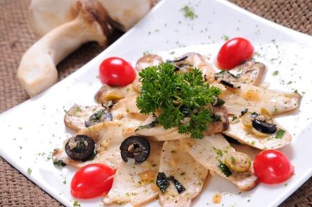 sauteed: Sauteed oyster mushroom