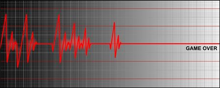 cardiogram ending with game over