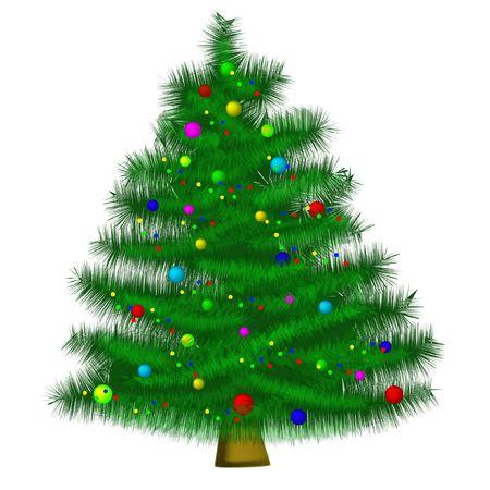 incrustation: christmas tree on white background