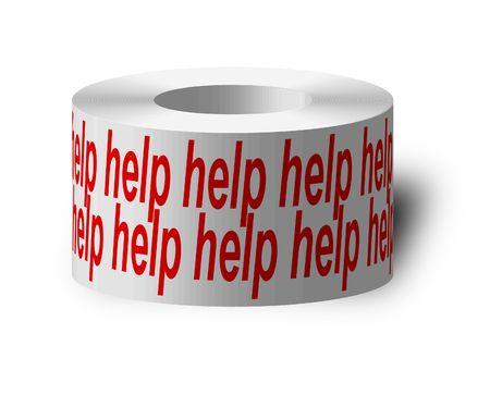 tacky: sticky tape with help