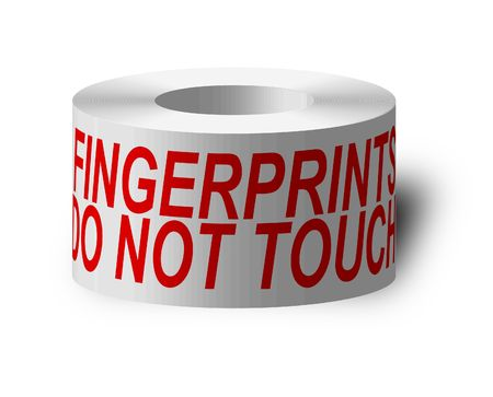 tacky: sticky tape with do not touch