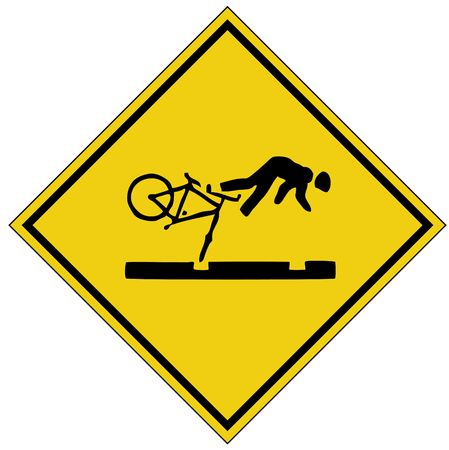 bike crash sign photo