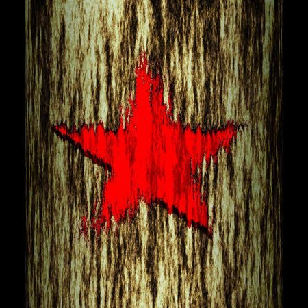 illustration: tree trunk: star Reklamní fotografie