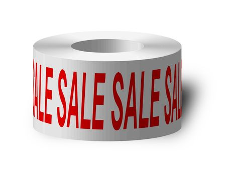 tacky: Illustraton of a sticky tape with sale
