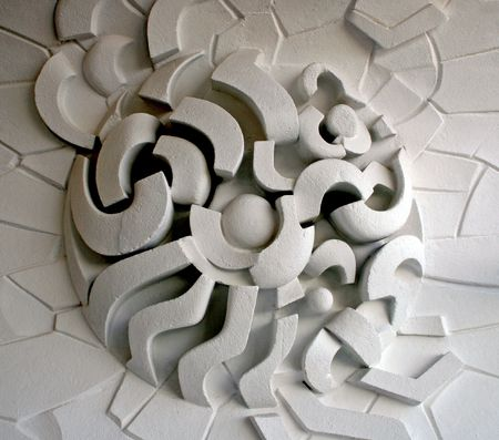 embed: ornament on the wall, natural light Stock Photo