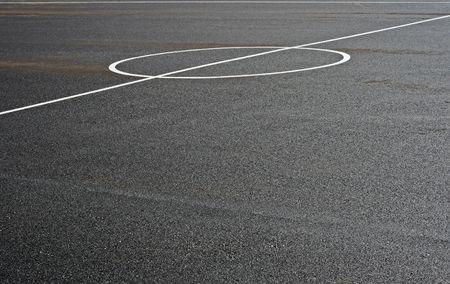 abstract shot of an asphalt football field