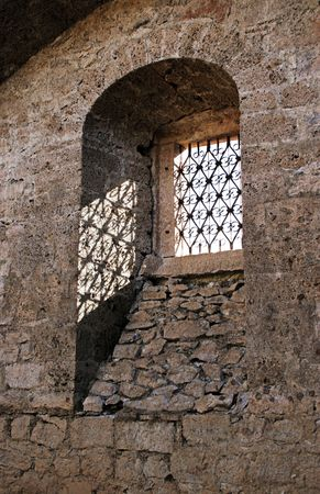 window from an old ruined church photo