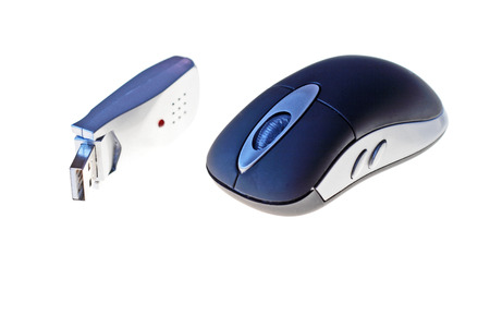 lap top: wireless optical mouse with usb receiver