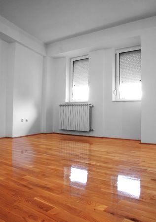 interior - empty new apartment Banco de Imagens