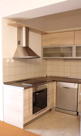 interior - empty new kitchen ready for use Stock Photo - 1963609