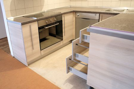 interior - empty new kitchen ready for use
