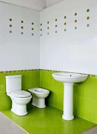 ceramic elements in a beautiful bathroom Stock Photo
